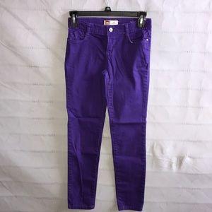 purple elastic waist pants size juniors 12 regular